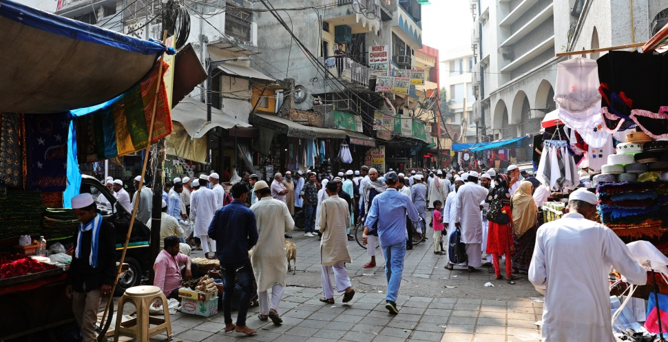 Muslim community near Lodi Gardens, Delhi