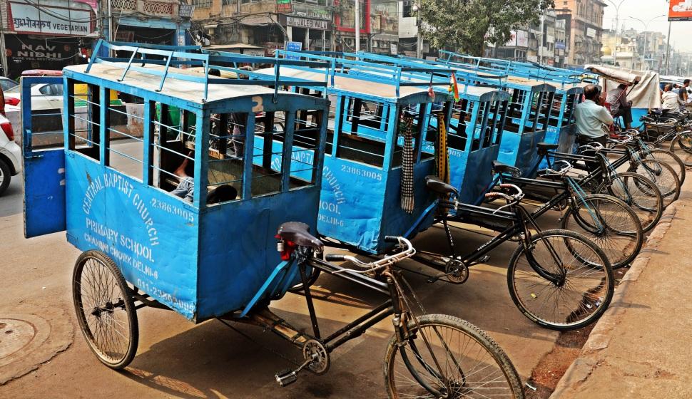 School Buses, Old Delhi