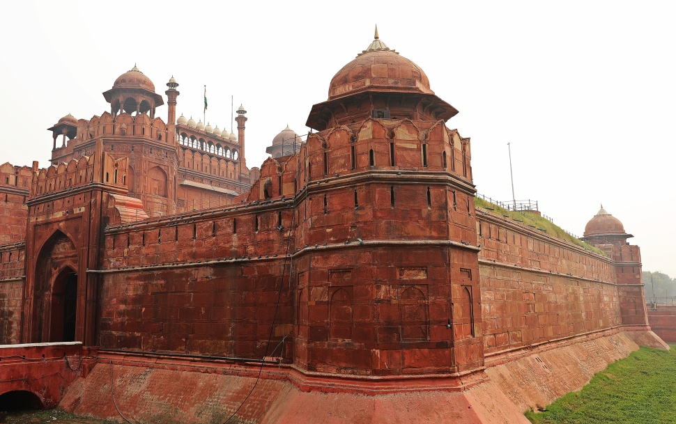 Red Fort's outer wall, Delhi