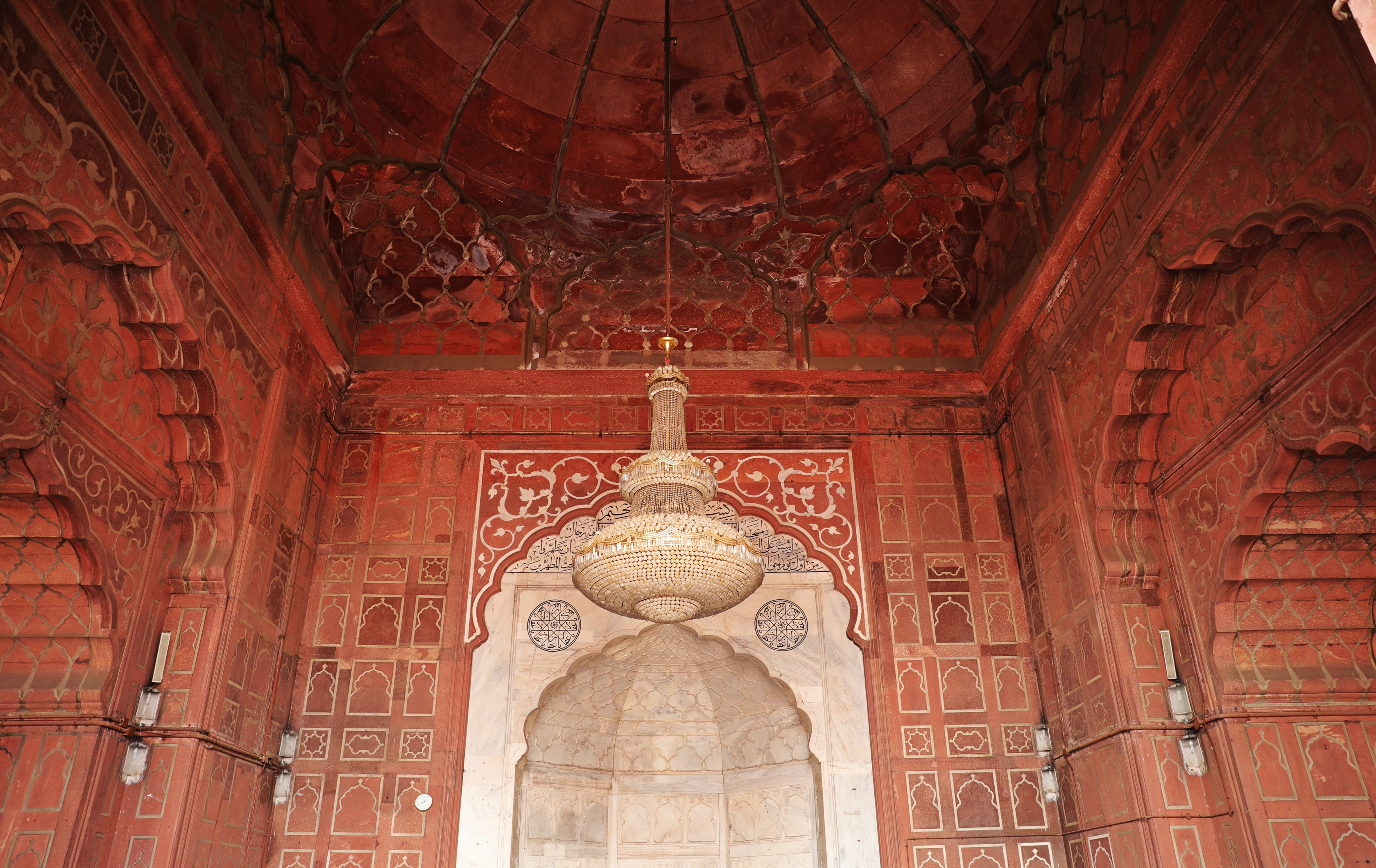 Ceiling of the prayer room, Jama Masjid, Delhi