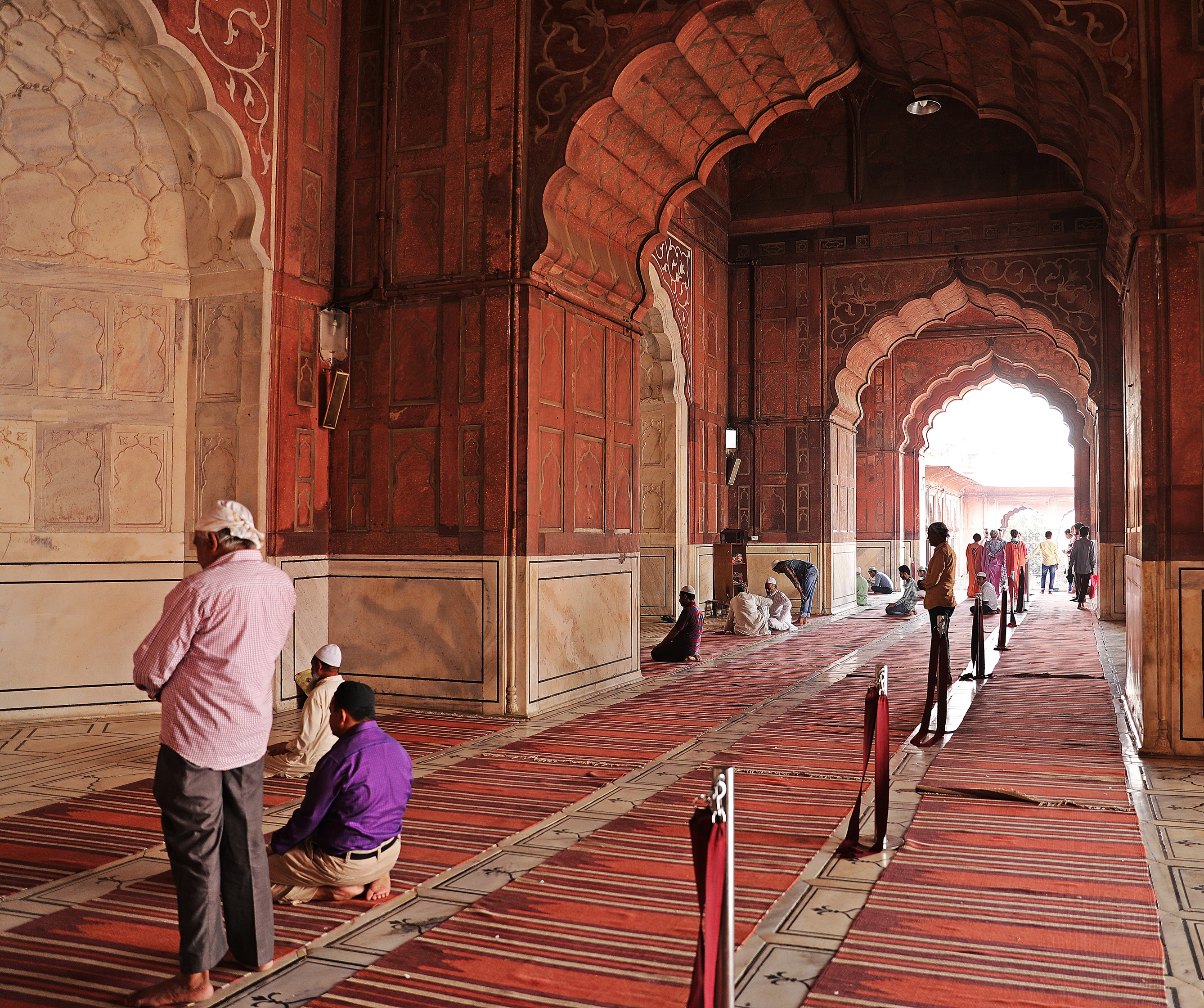 Prayer room, Jama Masjid, Delhi