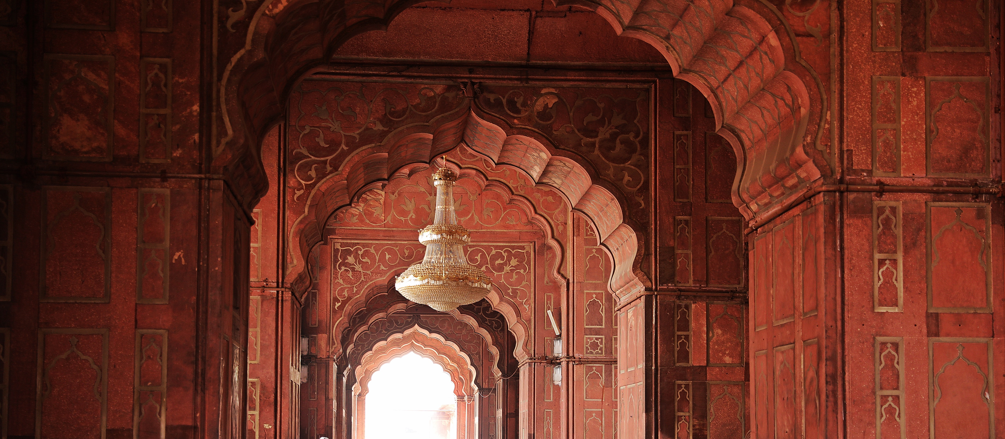 Arched doorways at Jama Masjid, Delhi