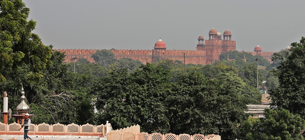 Red Fort seen from Jama Masjid, Delhi