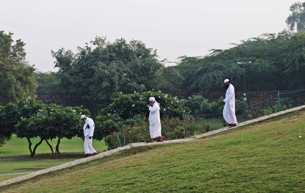 Muslim men at Qutab Minar complex, Delhi