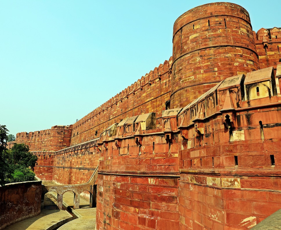 Outer wall of Agra Fort