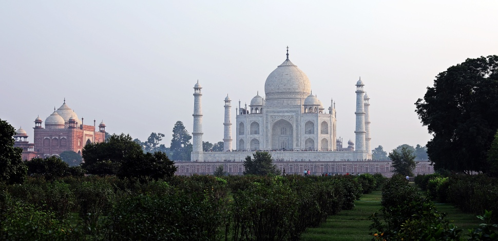 Taj Mahal from the other side of the Yamnuna River