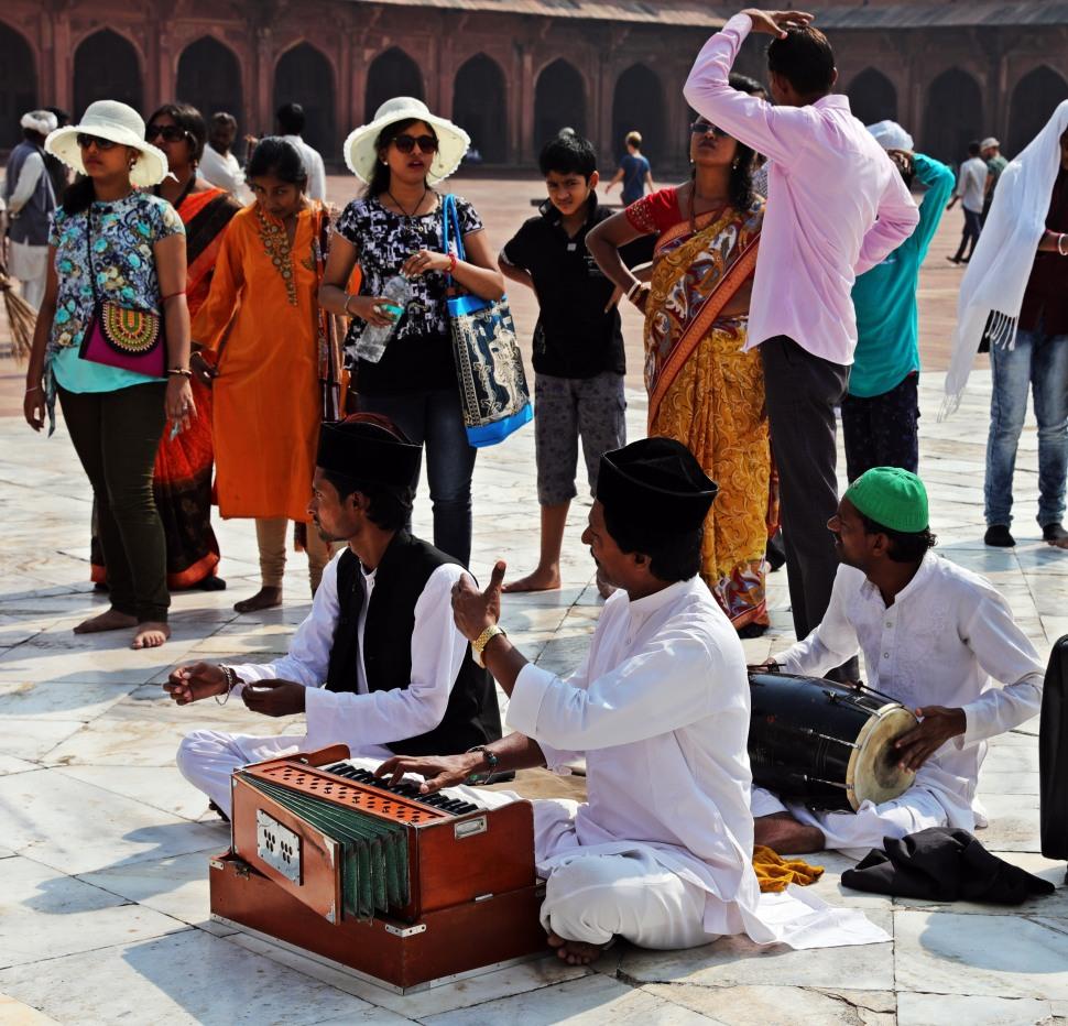 Musicians, Jama Masjid, Fatehpur Sikri