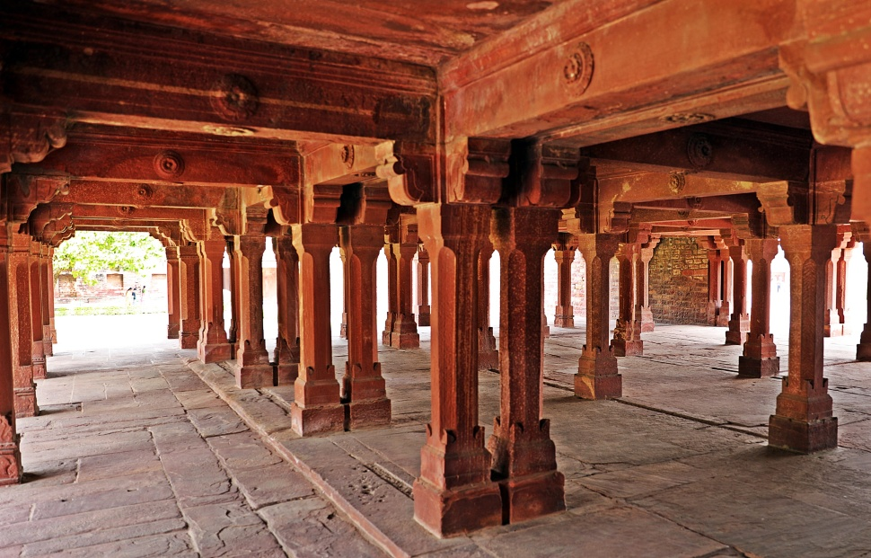 Ground floor of Panch Mahal, Fatehpur Sikri