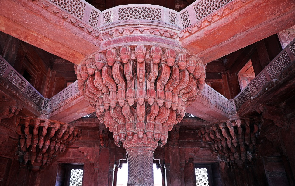Raised walkways, Hall for Private Audience, Fatehpur Sikri