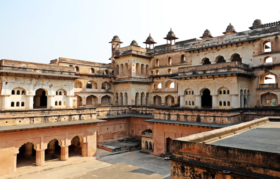 Terraces, Raj Mahal, Orchha