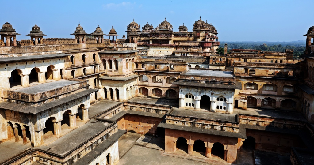 Terraces of Jehangir Mahal, Orchha