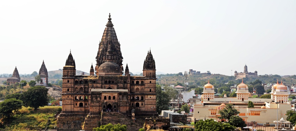View of Chaturbhuj Temple from Raj Mahal