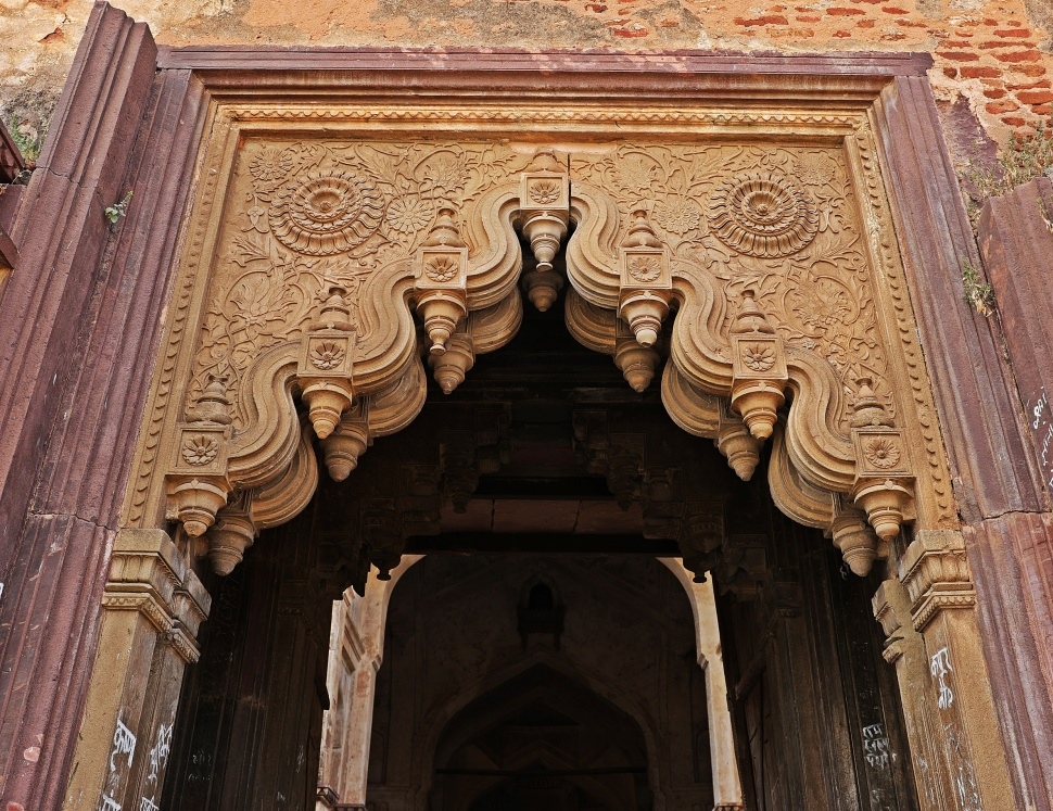 Doorway, Chaturbhuj Temple, Orchha