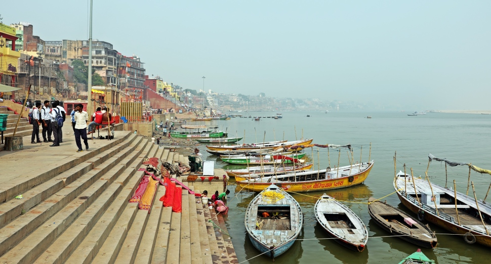 Laundry day on the Ganges, Varanasi