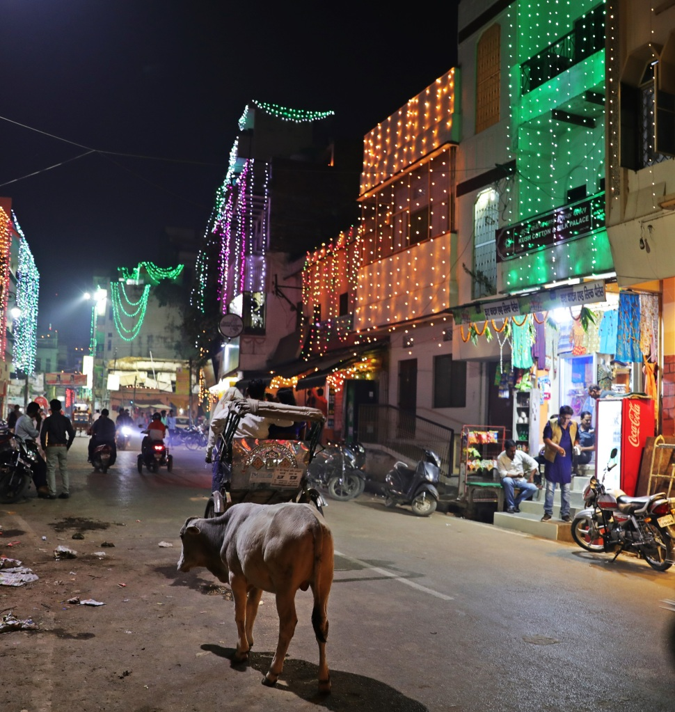 Diwali lights, Varanasi