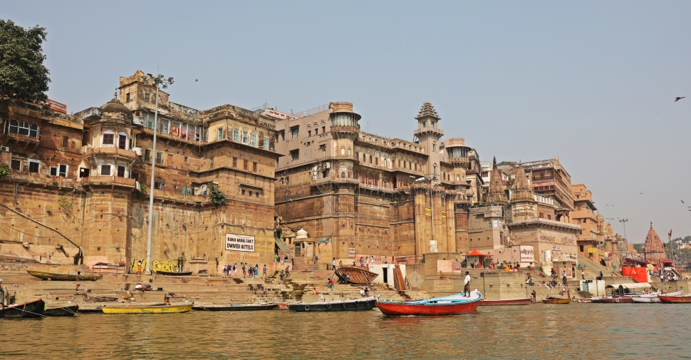 Historical buildings along the Ganges, Varanasi
