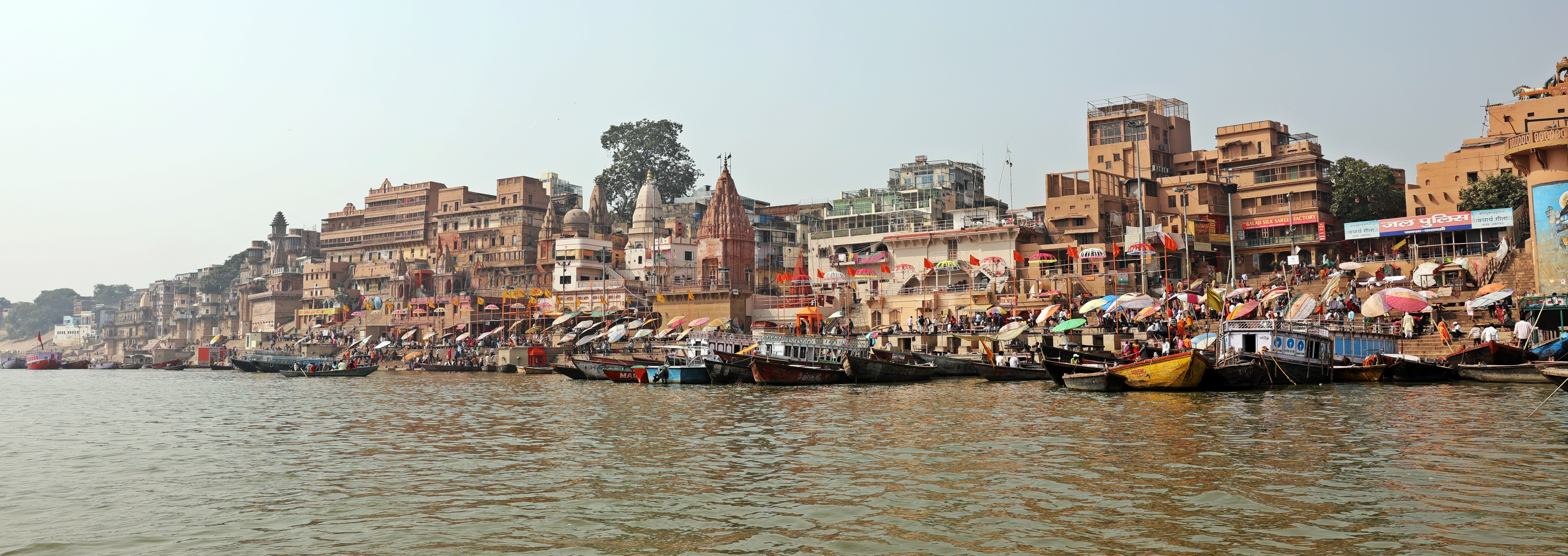 Ganges River bank in Varanasi