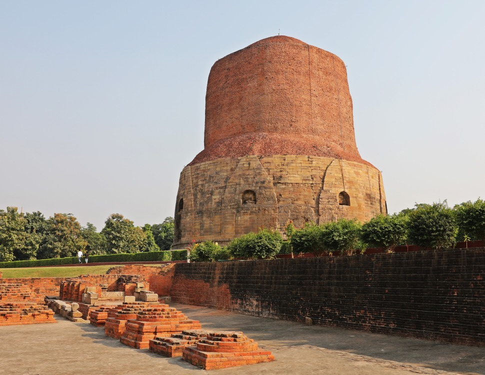 1,000 year old stupa in Sarnath