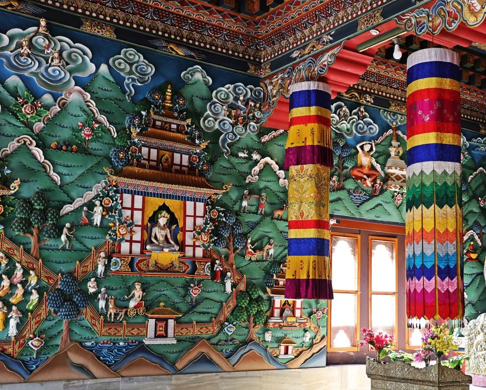 Bhutan monastery walls, Bodhgaya