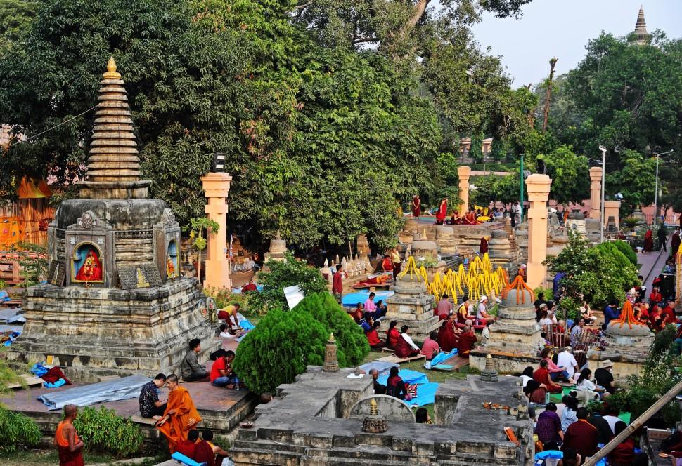 Mayabodhi Temple grounds, Bodhgaya