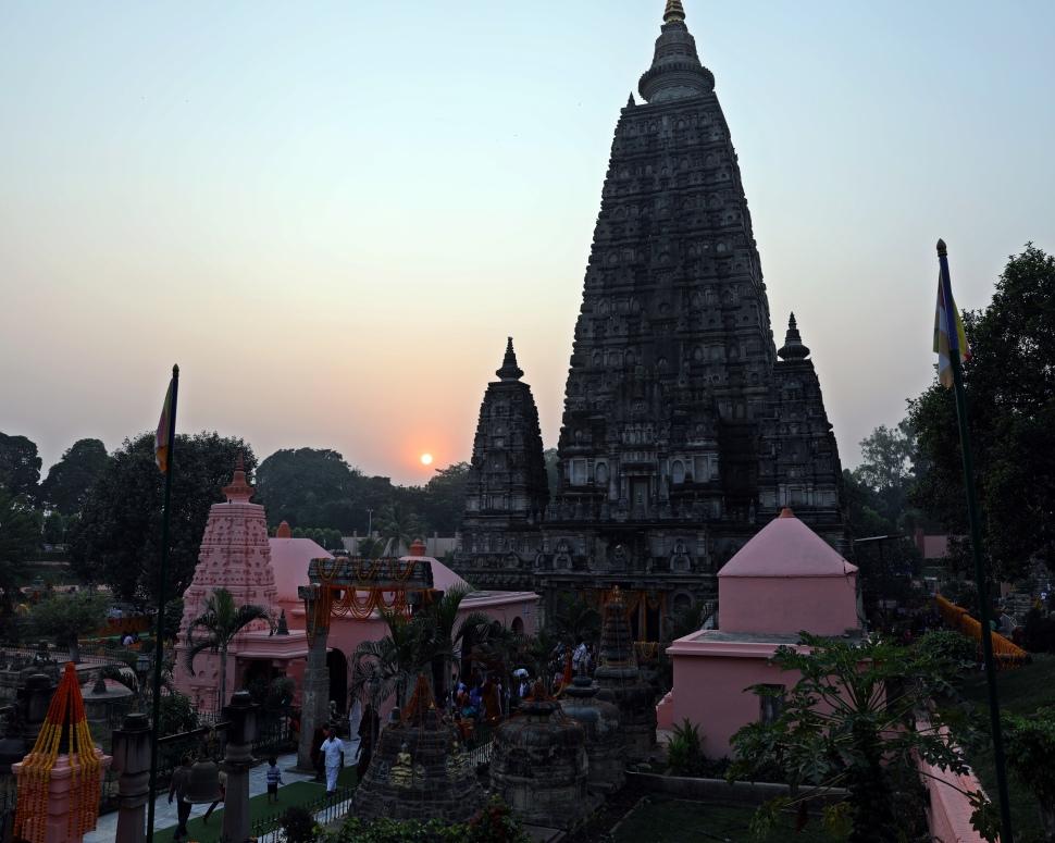 Sunset, Mayabodhi Temple, Bodhgaya