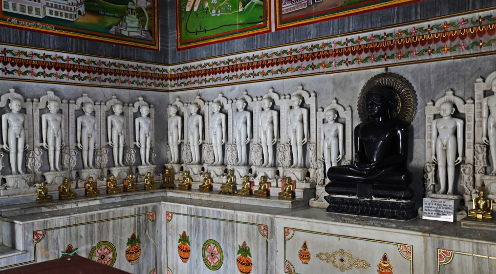 Nude Jain sculptures in a temple, Madhuban