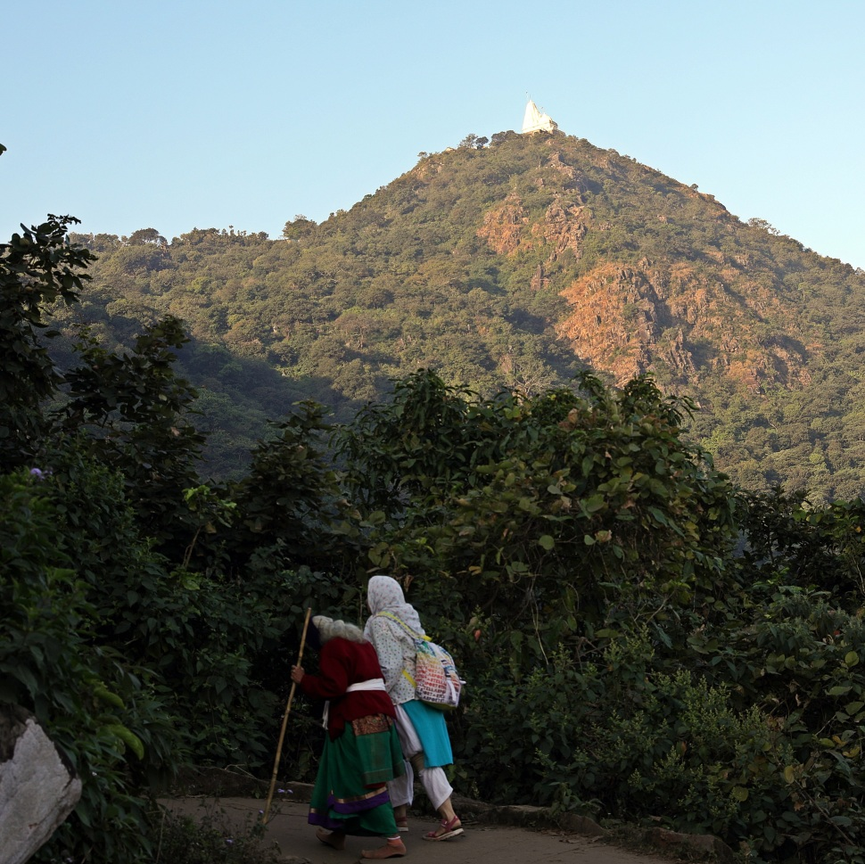 Pilgrims below Shikharji Temple, Parasnath Hills