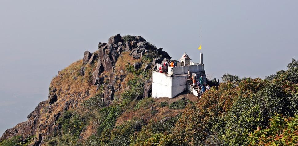 Hilltop temple, Parasnath Hills