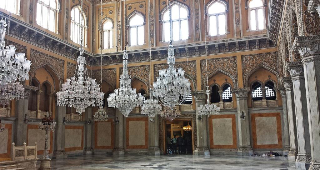 Chandelliers, Durbar Hall, Chowmahalla Palace, Hyderabad