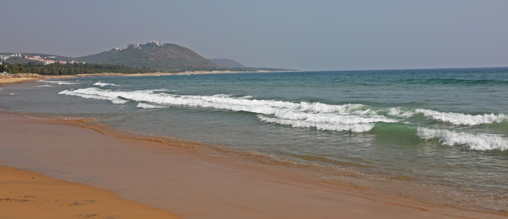 Rushikonda Beach, north of Vizag