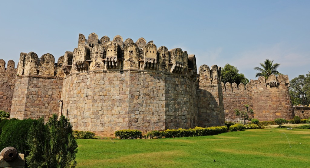 Outer wall, Golkonda Fort, Hyderabad