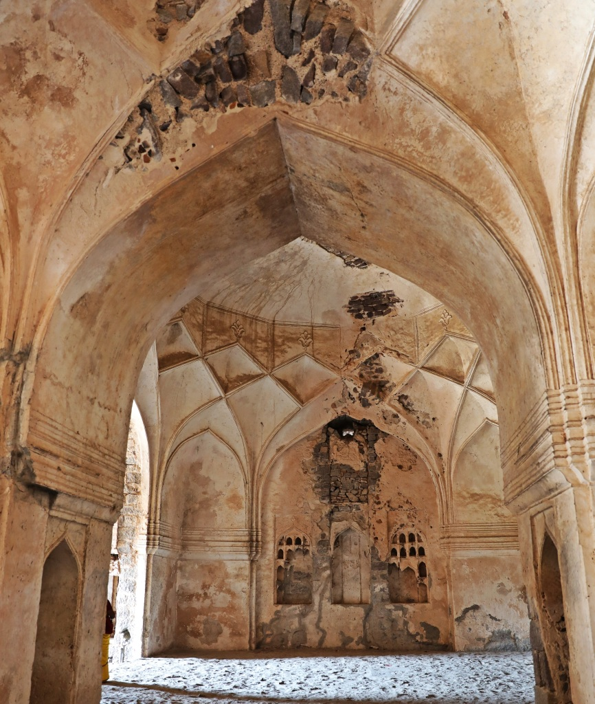 Arched ceilings, Golkonda Fort, Hyderabad