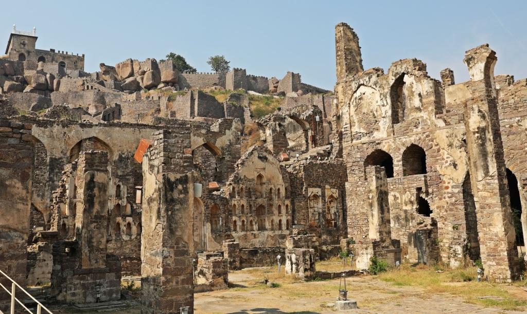 Ruins at Golkonda Fort , Hyderabad