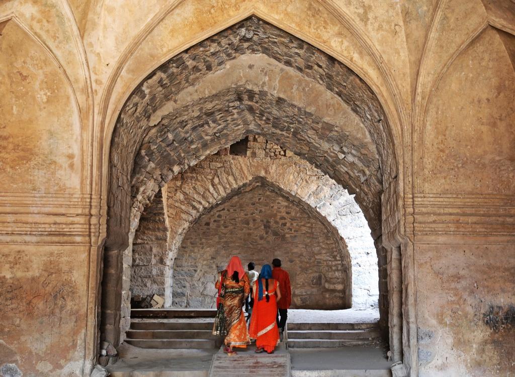 Inside one of the buildings, Golkonda Fort
