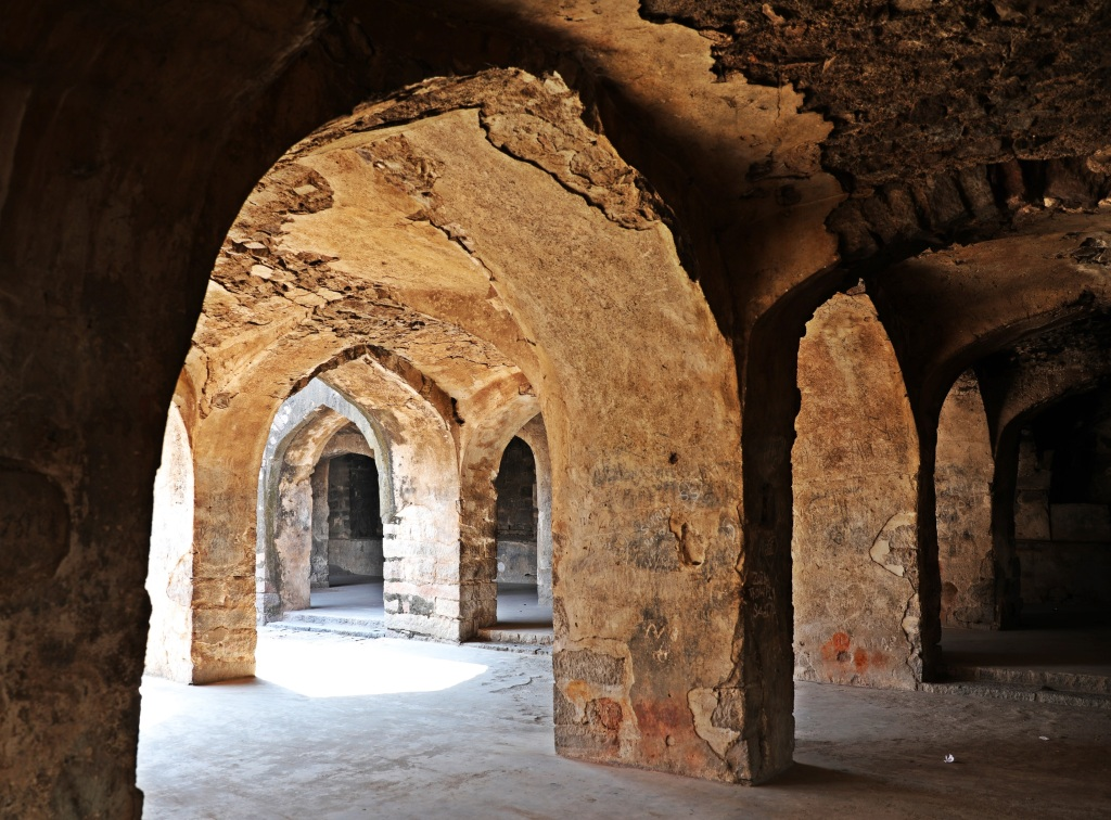 Arched doorways, Golkonda Fort , Hyderabad