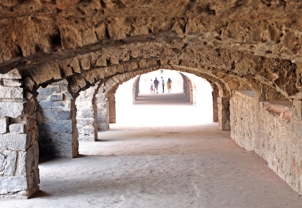Covered walkway, Golkonda Fort