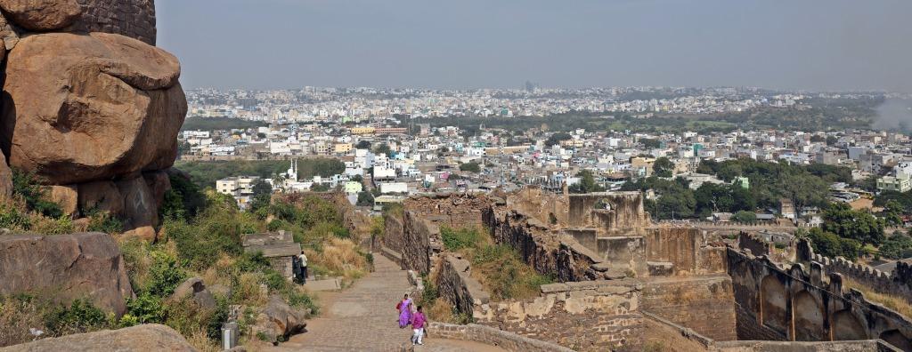 View of Hyderabad from Golkonda Fort