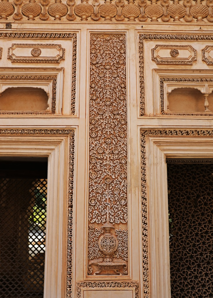 Intricate marble-work, Paigah Tombs, Hyderabad