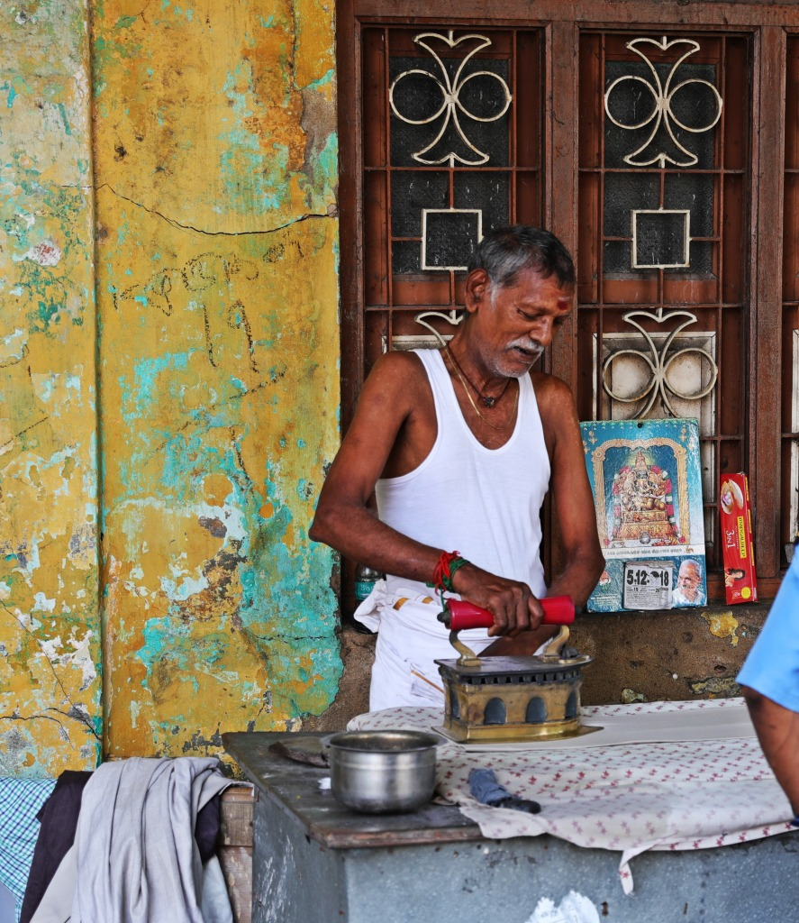 Coal-filled iron, life on the streets of Puducherry