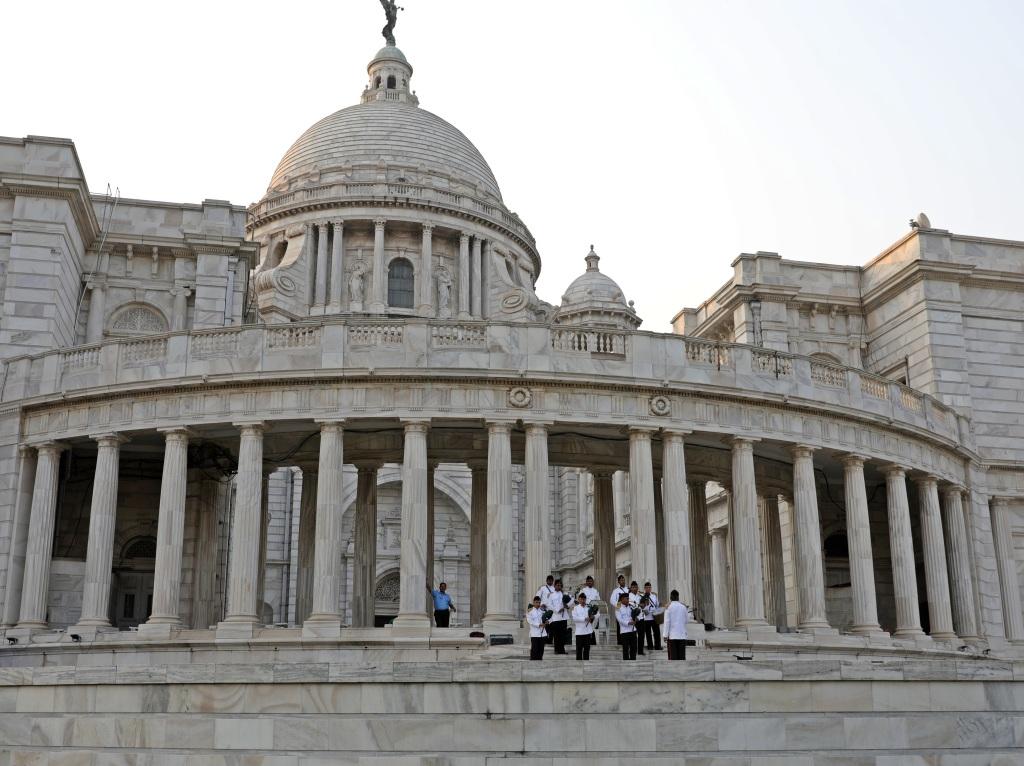 Bagpipe band, Victoria Monument, Kolkata