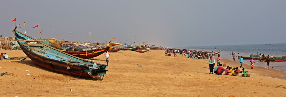 Boats on Model Beach, Puri