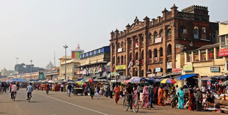Market beside Jagannath Mandir, Puri
