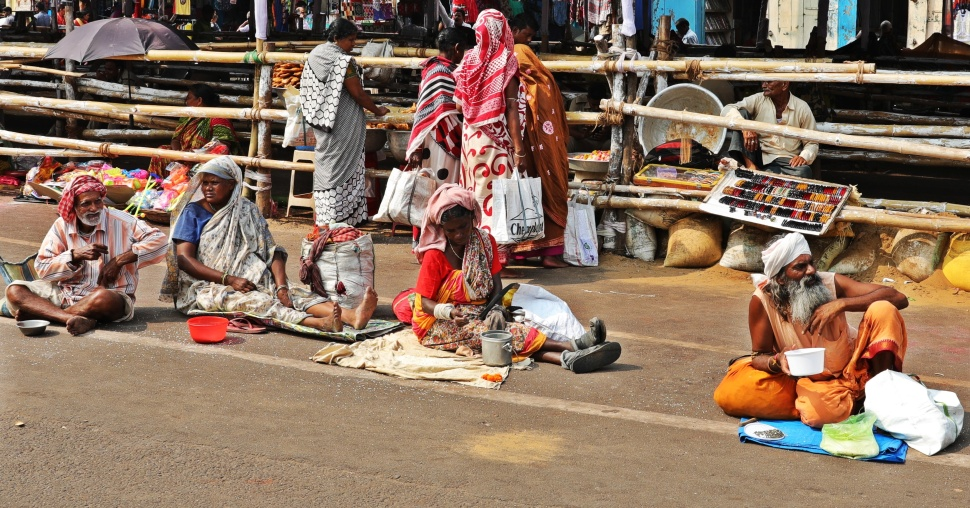 Beggars outside Jagannath Mandir