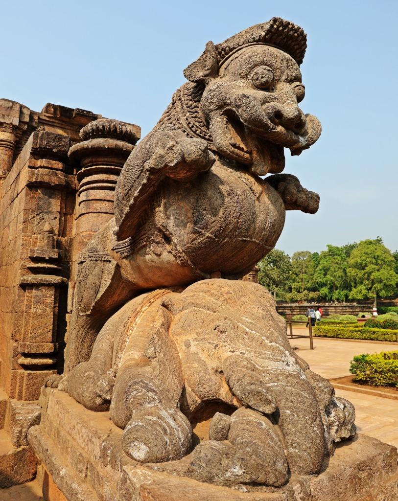 Lion crushing Elephant, Sun Temple, Konark