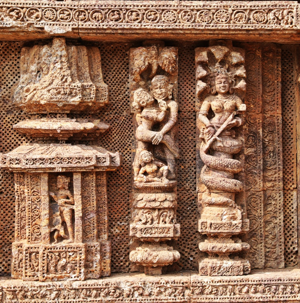 Erotic carvings, Sun Temple, Konark