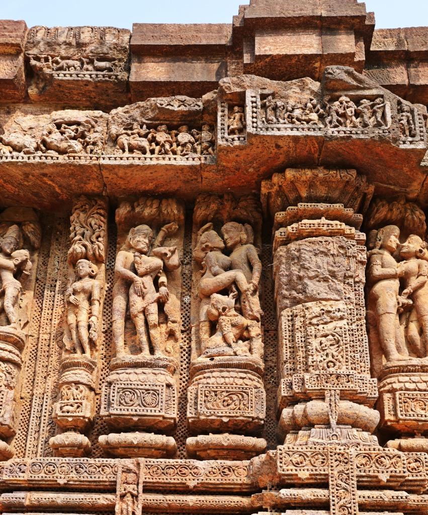 Erotic carvings, Sun Temple, Konark