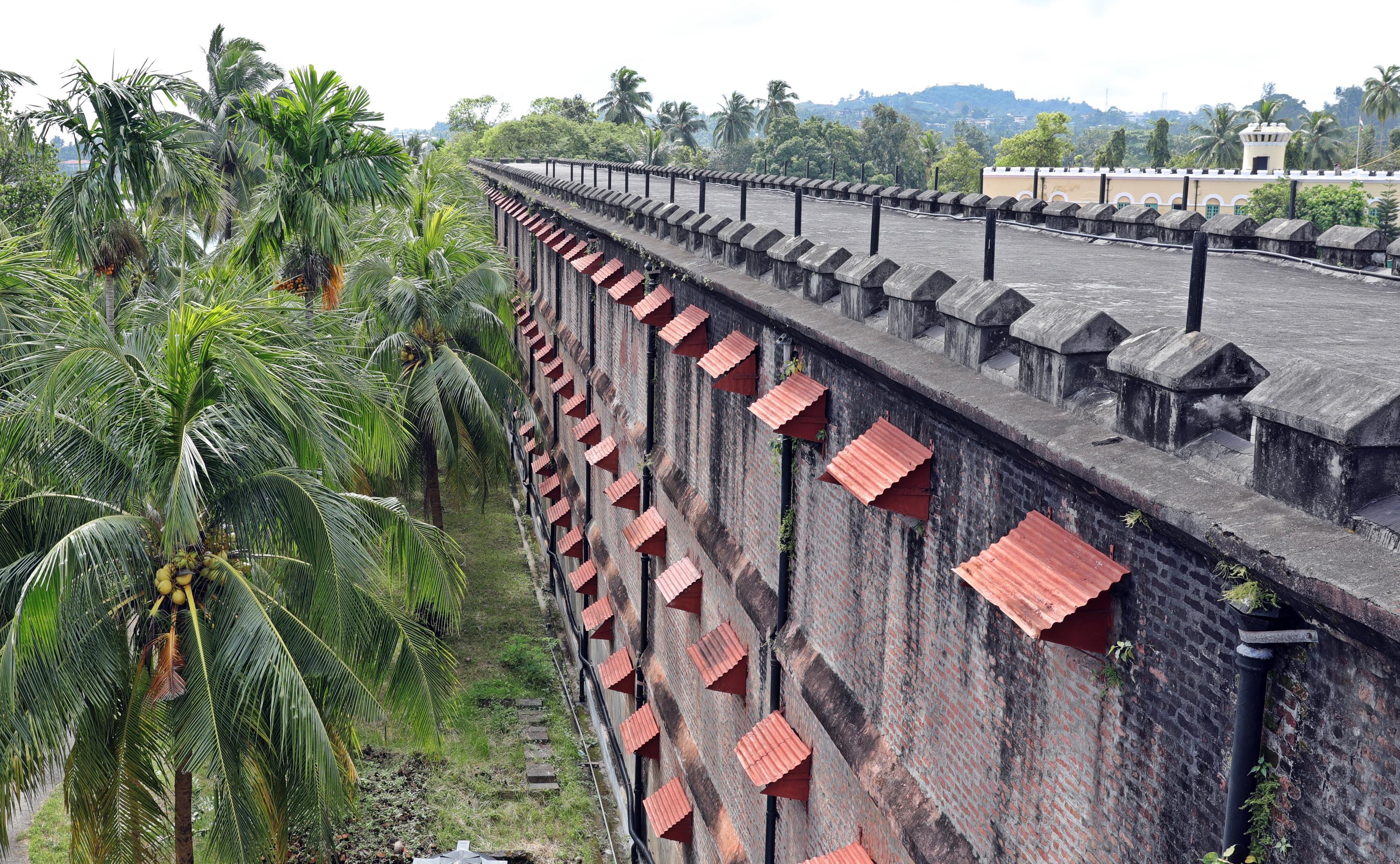 Jail windows, Cellular Jail, Port Blair, Andaman Islands