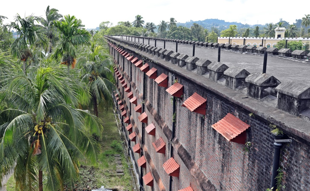 Jail windows, Cellular Jail, Port Blair, Andaman Islands
