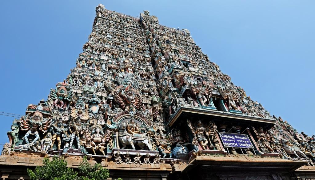Gopuram, Meenakash Amman Temple, Madurai