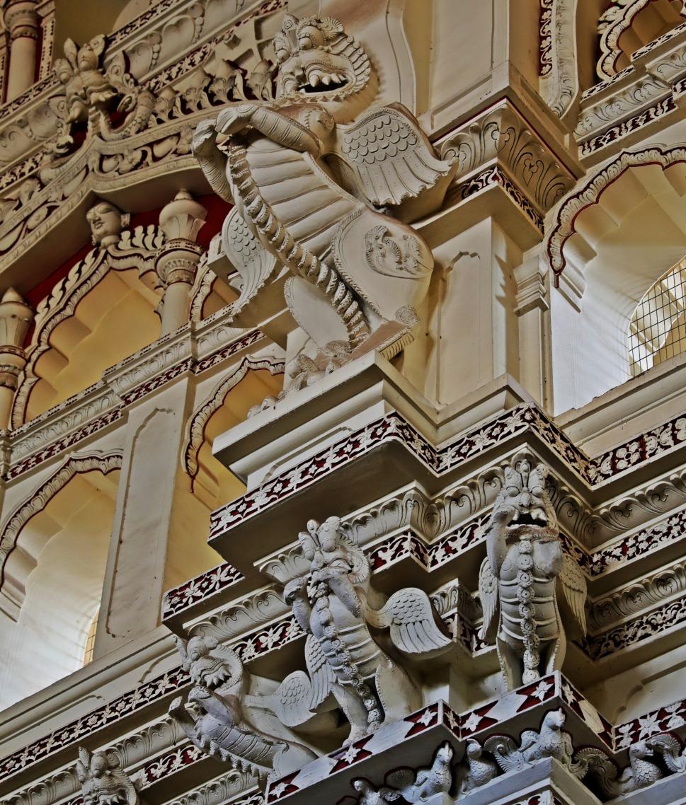 Dragon statue, Dancing Hall, Tirumalai Nayak Palace, Madurai